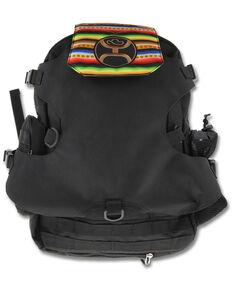 HOOey Men's Mule Serape Print Flap Boot & Hat Carrier Backpack, Black, hi-res
