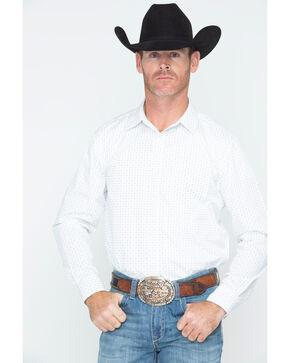 Gibson Men's Henry Geo Western Shirt , White, hi-res