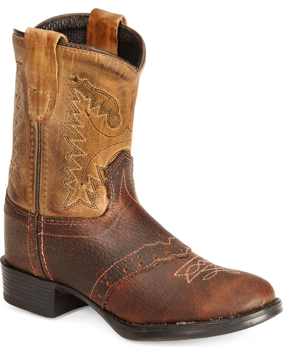 Old West Toddler Boys' Ultra Flex Thunder Cowboy Boot - Round Toe, Brown, hi-res