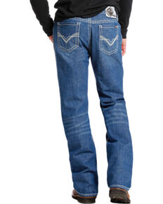 Rock and Roll Cowboy Medium Wash Double Barrel Relaxed Fit Flame Resistant Jeans - Boot Cut , Indigo, hi-res