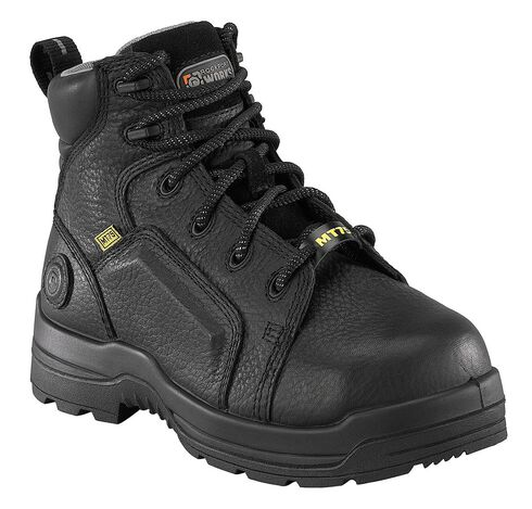 "Rockport Women's More Energy Black 6"" Lace-Up Work Boots - Composition Toe, Black, hi-res"