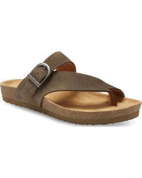 Eastland Men's Shane Adjustable Thong Sandals, Olive, hi-res