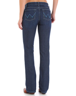 Wrangler Women's Indigo Q Baby Ultimate Riding Jeans - Boot Cut , Indigo, hi-res