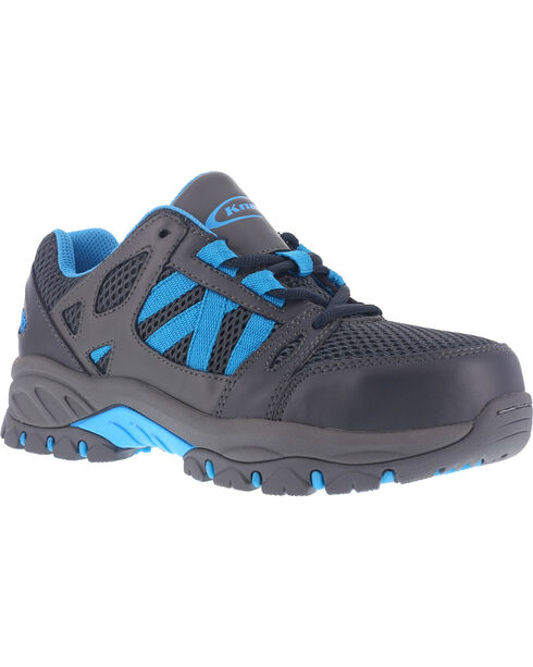 Knapp Women's Athletic Oxford Work Shoes - Steel Toe , Charcoal, hi-res