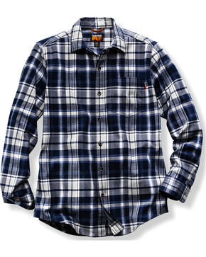 Timberland PRO Men's Navy Plaid Flannel Work Shirt, Navy, hi-res