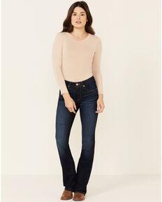 Ariat Women's Mid-Rise Bootcut Jeans, Blue, hi-res