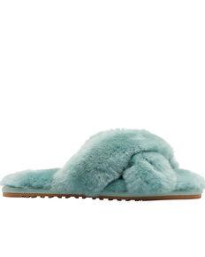 Lamo Women's Serenity Sheepskin Sandals, Light Green, hi-res