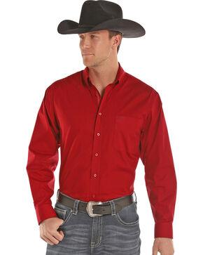 Panhandle Men's Solid Stretch Poplin Shirt , , hi-res