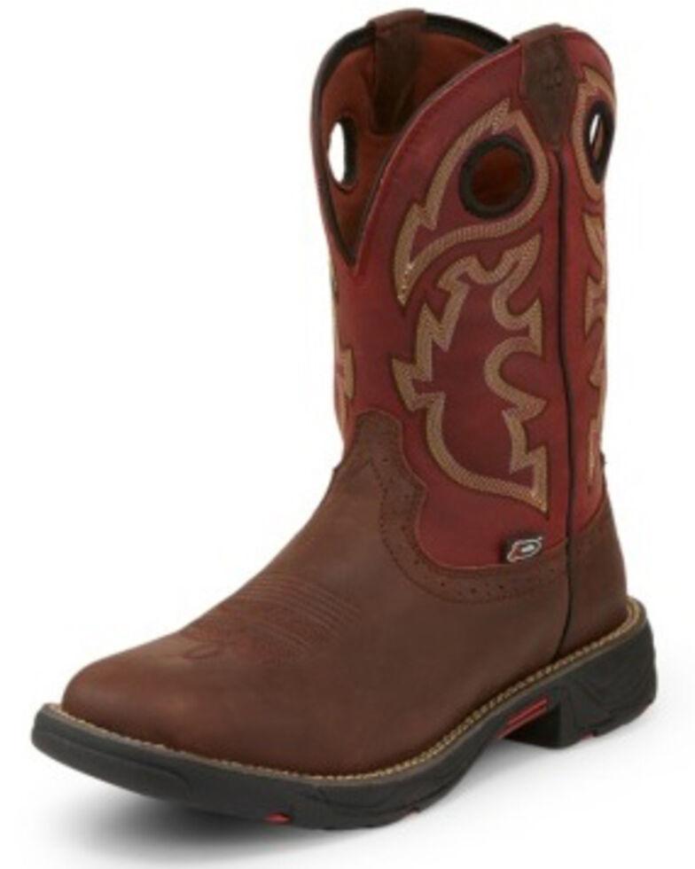 Justin Men S Stampede Fiesta Western Work Boots Square