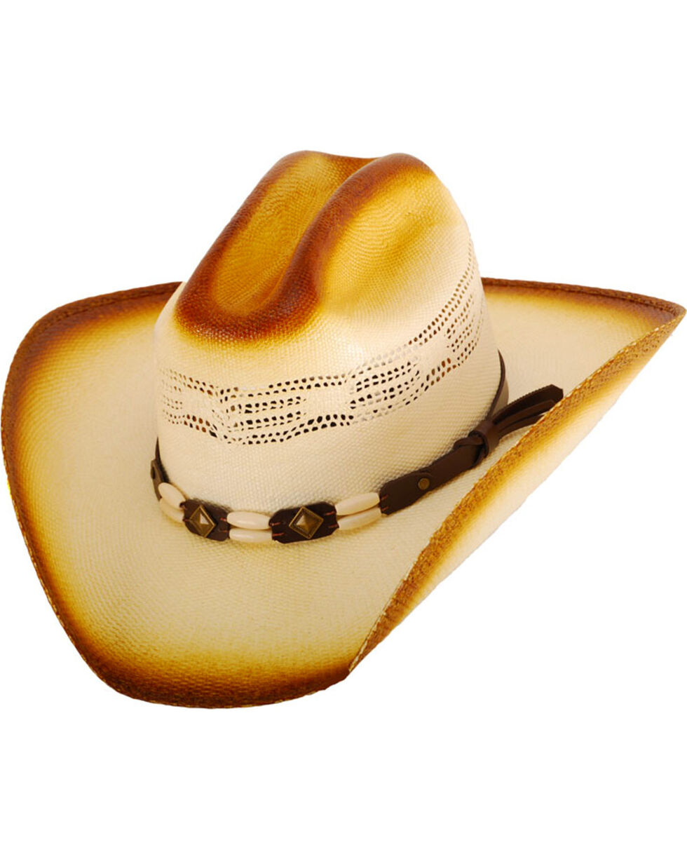 Western Express Boys' Cameron Straw Hat, Tan, hi-res