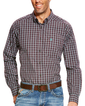 Ariat Men's Pro Series Aubrey Performance Long Sleeve Button Down Shirt, Wine, hi-res