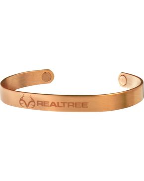 Sabona Men's Realtree Brushed Copper Wristband, Copper, hi-res