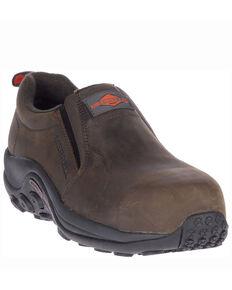 Merrell Men's Jungle Slip-On Work Shoes - Composite Toe, Dark Brown, hi-res