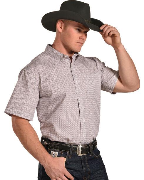 Cody James Men's Cliff Print Short Sleeve Button Down Shirt - Tall, Red, hi-res