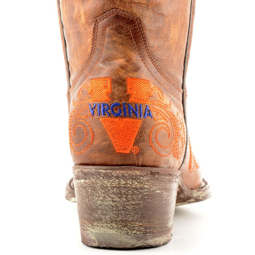 Gameday University of Virginia Cowboy Boots - Pointed Toe, Brass, hi-res