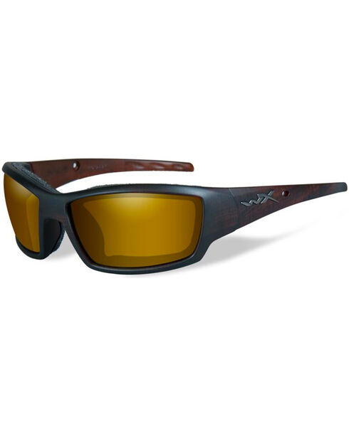 Wiley X Tide Polarized Venice Gold Matte Hickory Protective Sunglasses, Bark, hi-res