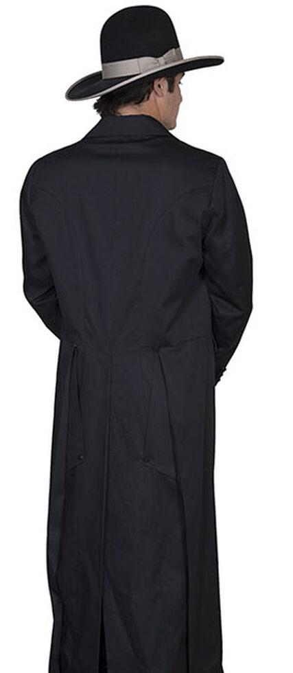 WahMaker by Scully Long Ruffle Frock Coat - Big & Tall, Black, hi-res