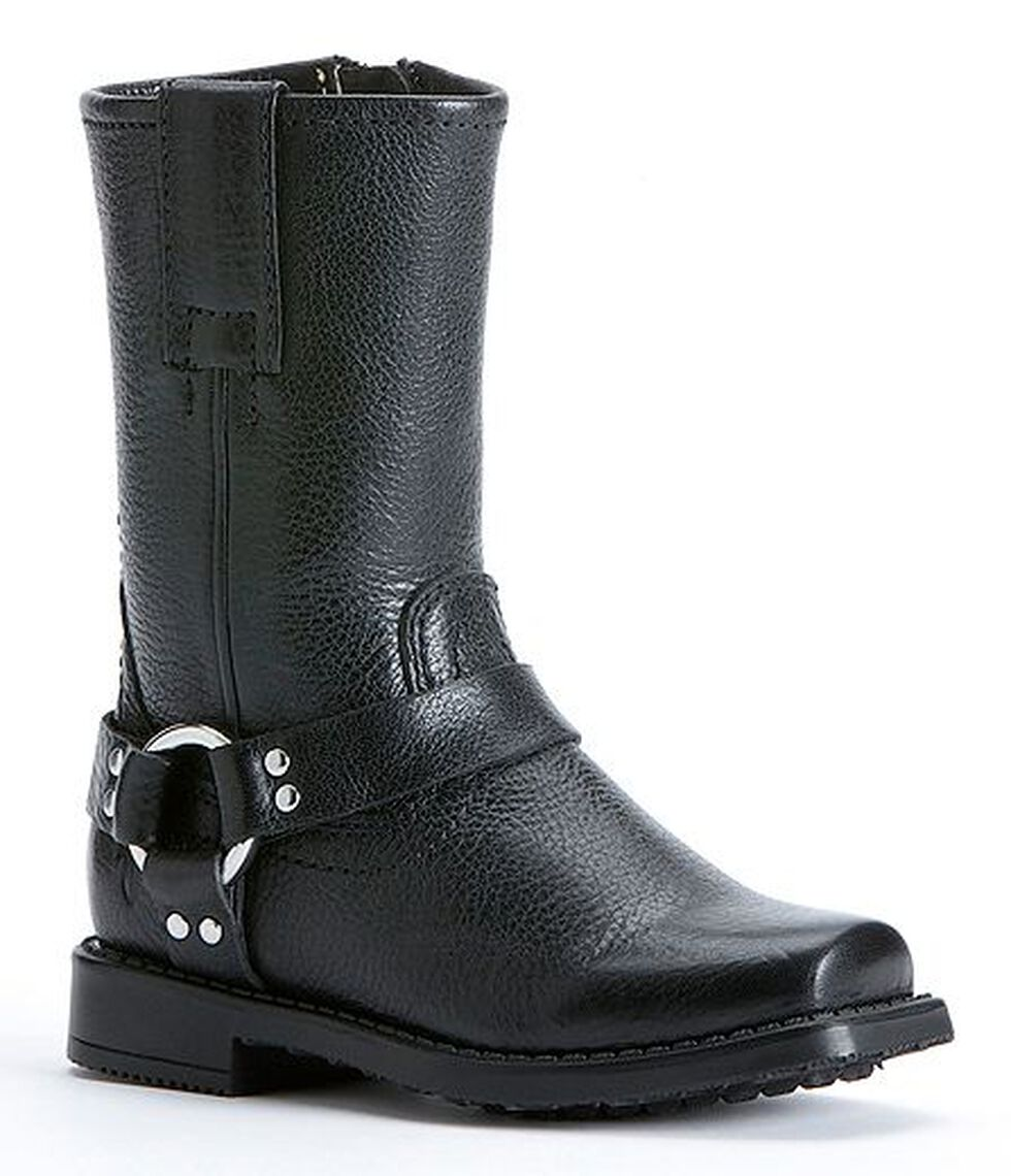 Frye Girls' Harness Pull-on Boots, Black, hi-res