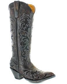 Old Gringo Women's Ilona Stitched Western Boots - Round Toe, Chocolate, hi-res