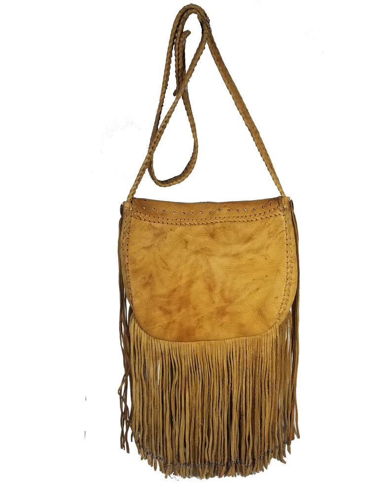 Kobler Leather Women's Concho Crossbody Bag, Tan, hi-res