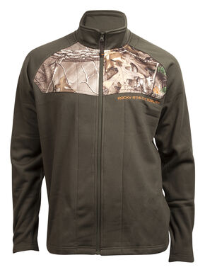 Rocky Men's Full-Zip Realtree Camo Fleece Jacket, Green, hi-res