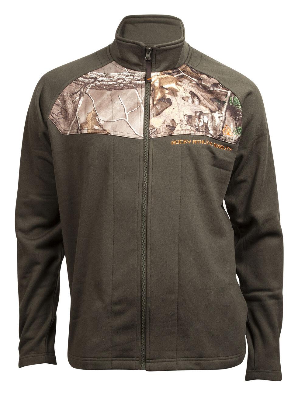 Rocky Men's Full-Zip Realtree Camo Fleece Jacket, Green, hi-res