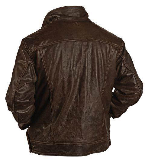 STS Ranchwear Men's Maverick Brown Leather Jacket, Brown, hi-res