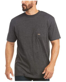 Ariat Men's Charcoal Heather Rebar Cotton Strong American Raptor Graphic Work T-Shirt, Charcoal, hi-res