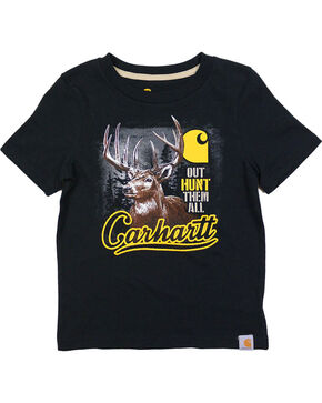Carhartt Boys' Black Out Hunt Them All Tee , Black, hi-res