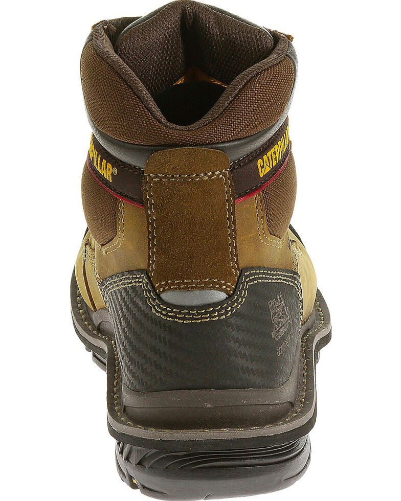 "Caterpillar Men's Brown Fabricate 6"" Tough Waterproof Work Boots - Soft Round Toe , Brown, hi-res"