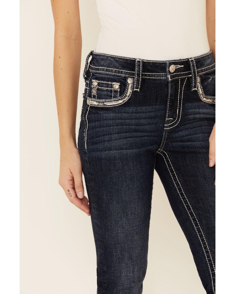Miss Me Women's Chloe Flap Pocket Bootcut Jeans, Blue, hi-res