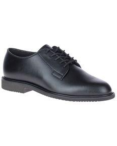 Bates Women's High Shine Sentry Oxford Shoes, Black, hi-res