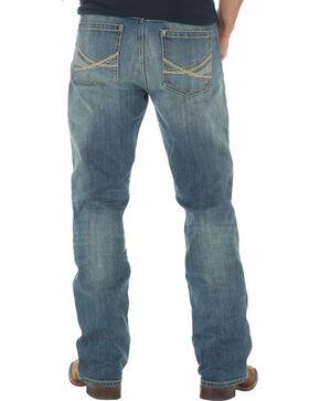 Wrangler 20X Men's 42 Vintage Boot Medium Wash Jeans - Big and Tall, Indigo, hi-res