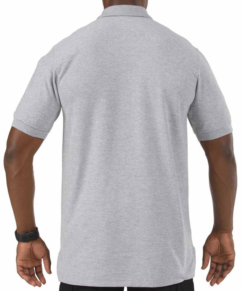 5.11 Tactical Utility Short Sleeve Polo Shirt, Hthr Grey, hi-res