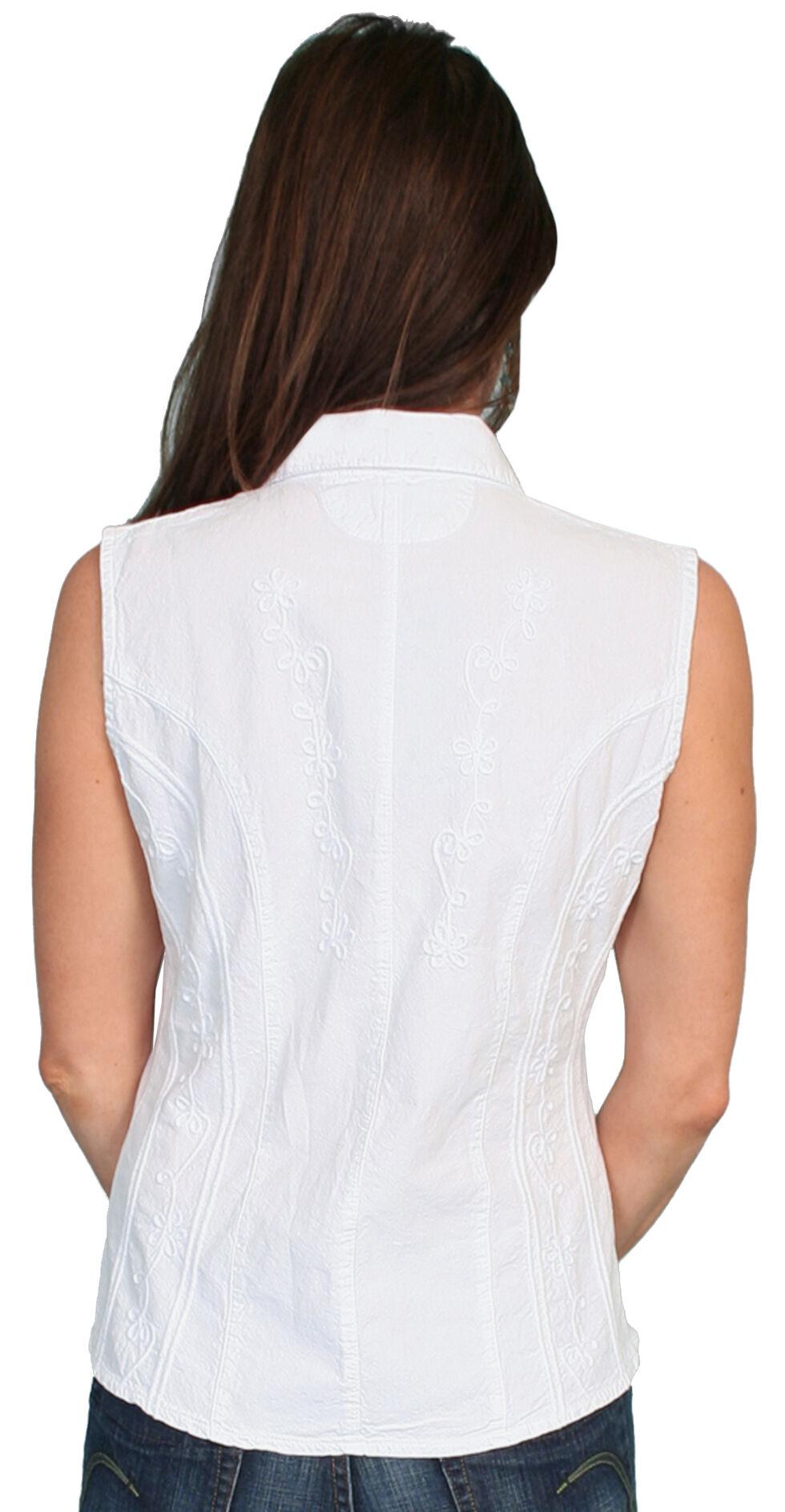 Scully Peruvian Cotton Sleeveless Top, White, hi-res