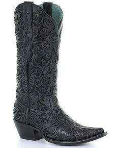 Corral Women's Black Lorraine Western Boots - Snip Toe, Black, hi-res