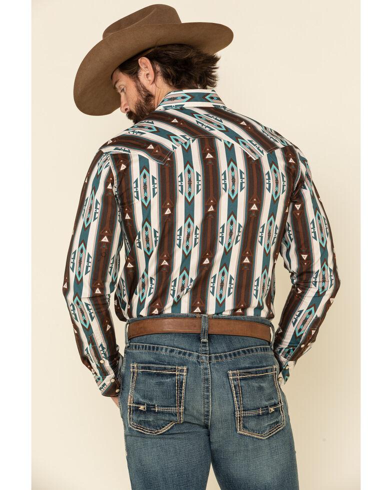Rock & Roll Denim Men's Multi Aztec Striped Long Sleeve Western Shirt , Multi, hi-res