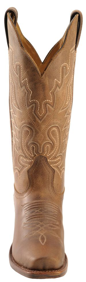 Boulet Lady Rancher Cowgirl Boots - Narrow Square Toe, Rustic Brn, hi-res