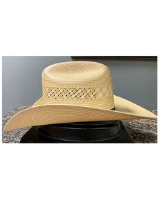 Serratelli Natural Shooter Bailey Wide Shantung Straw Western Hat , Natural, hi-res
