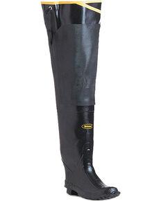 """Lacrosse Men's 32"""" Premium Rubber Hip Boots, Black, hi-res"""