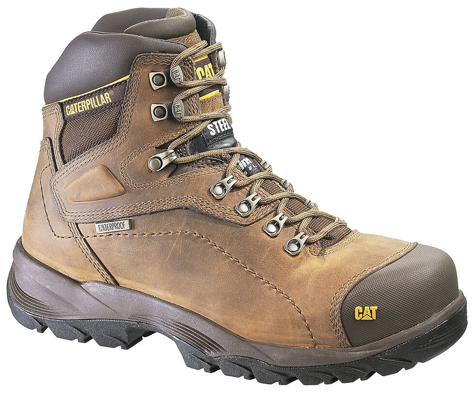 """Caterpillar Diagnostic Waterproof & Insulated 6"""" Lace-Up Work Boots - Round Toe, Dark Khaki, hi-res"""