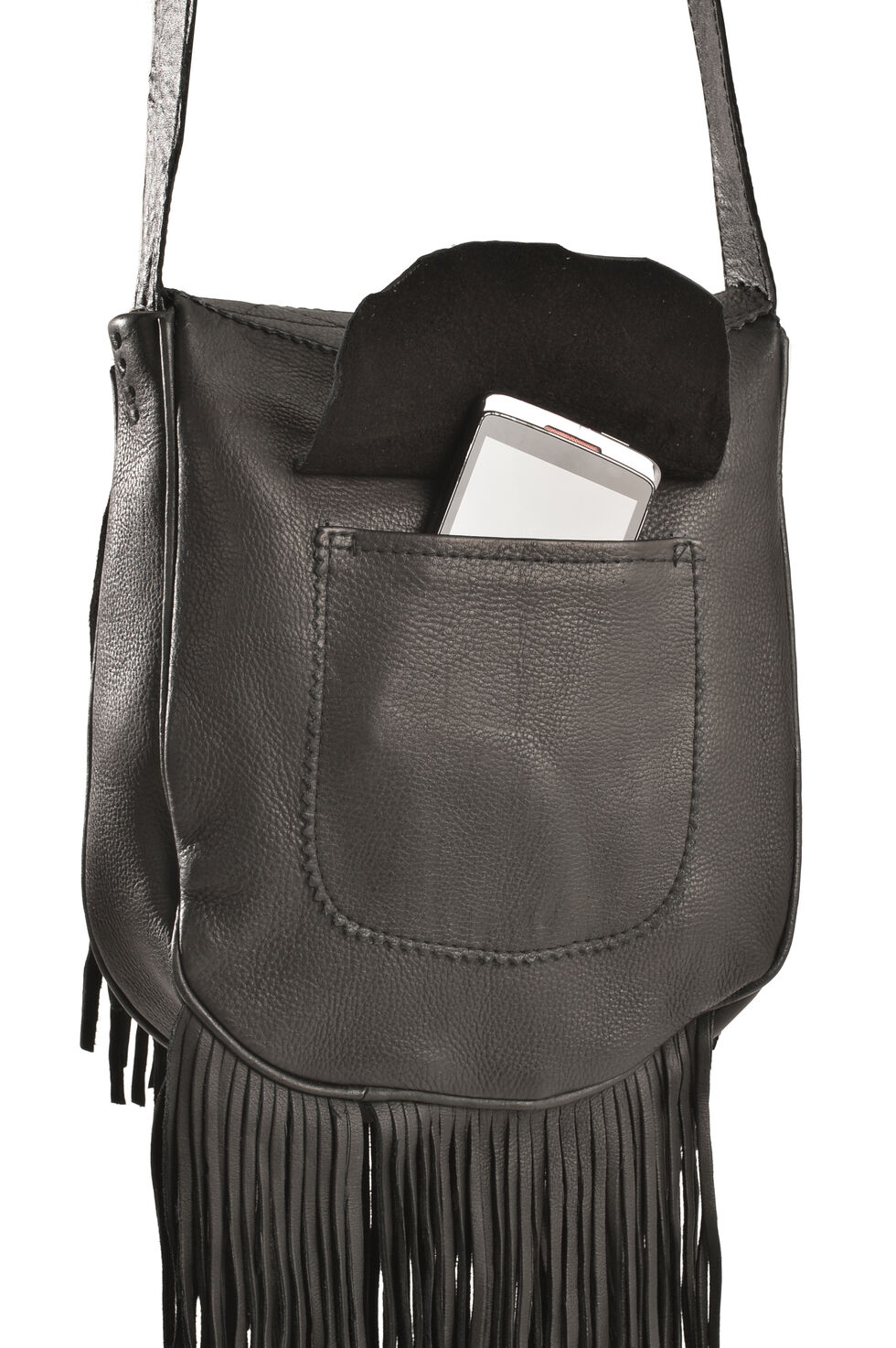 Kobler Leather Black Painted Handbag, Black, hi-res