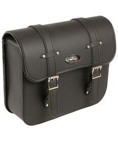 Milwaukee Leather Medium PVC Straight Cut Swing Arm Bag, Black, hi-res
