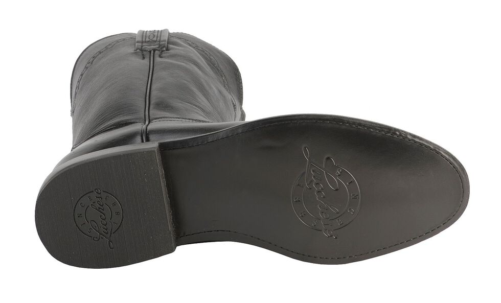 Lucchese Handmade 1883 Lonestar Calf Roper Boots - Round Toe, Black, hi-res