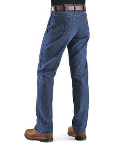 Wrangler Men's Fire Resistant FR 47 Lightweight Regular Work Jeans, Denim, hi-res