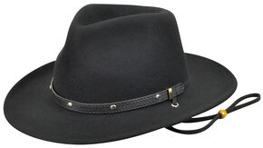 Eddy Bros. by Bailey Men's Calaboose Western Hat, Black, hi-res