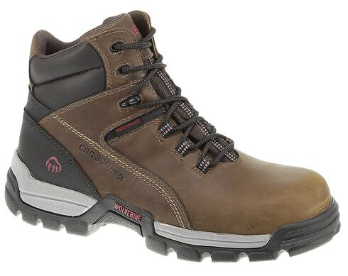 "Wolverine Tarmac 6"" Waterproof Reflective Work Boots - Composite Toe, Cinnamon, hi-res"
