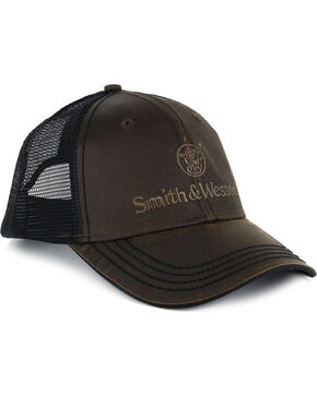Smith & Wesson Men's Vintage Ball Cap, Brown, hi-res