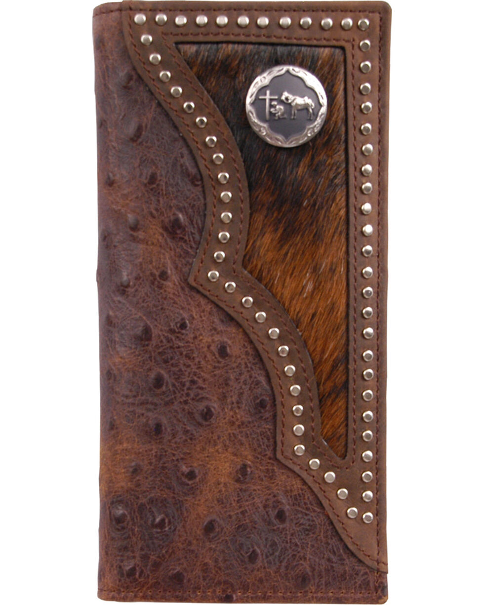 3D Men's Brown Western Rodeo Wallet, Multi, hi-res