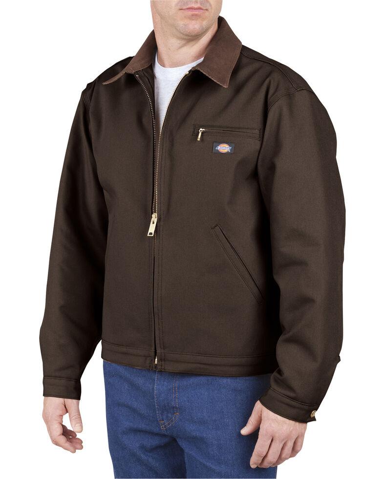 Dickies Men's Blanket Lined Duck Work Jacket, Chocolate, hi-res
